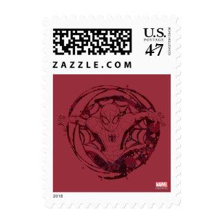 Spider-Man In Web Graphic Stamp