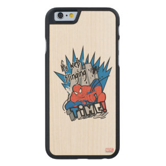 Spider-Man It's Web Slinging Time Carved Maple iPhone 6 Case