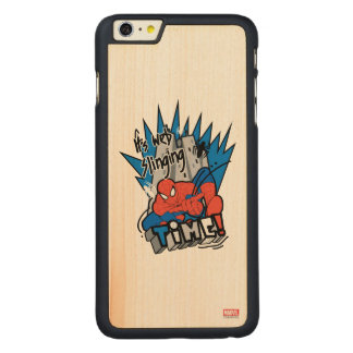 Spider-Man It's Web Slinging Time Carved Maple iPhone 6 Plus Slim Case