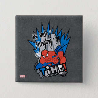 Spider-Man It's Web Slinging Time Pinback Button