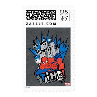 Spider-Man It's Web Slinging Time Postage Stamp