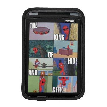"Spider-Man ""King of Hide and Seek"" Meme Graphic iPad Mini Sleeve"