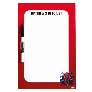 Spider-Man Leaping Out Of Spider Graphic Dry Erase Board
