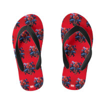Spider-Man Leaping Out Of Spider Graphic Kid's Flip Flops
