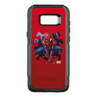 Spider-Man Leaping Out Of Spider Graphic OtterBox Commuter Samsung Galaxy S8+ Case