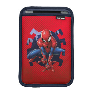 Spider-Man Leaping Out Of Spider Graphic Sleeve For iPad Mini