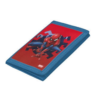 Spider-Man Leaping Out Of Spider Graphic Tri-fold Wallet