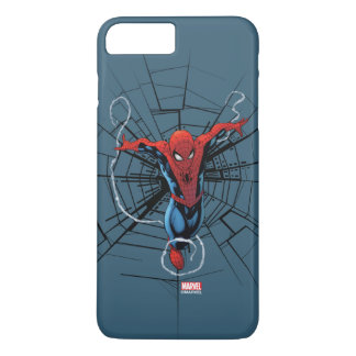 Spider-Man Leaping With Webbing iPhone 8 Plus/7 Plus Case