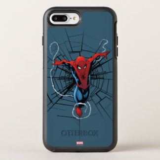 Spider-Man Leaping With Webbing OtterBox Symmetry iPhone 8 Plus/7 Plus Case