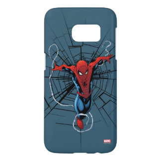 Spider-Man Leaping With Webbing Samsung Galaxy S7 Case