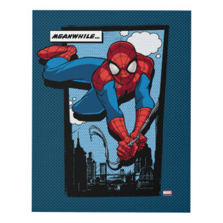 Spider-Man Meanwhile Comic Panel Panel Wall Art