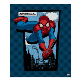 Spider-Man Meanwhile Comic Panel Poster