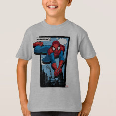 Spider-Man Meanwhile Comic Panel T-Shirt at Zazzle