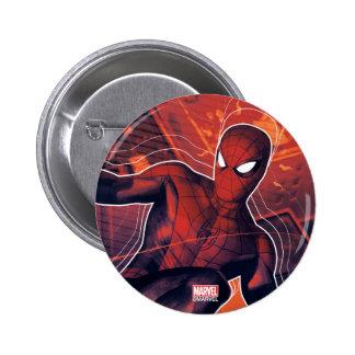 Spider-Man Mid-Air Spidey Sense Pinback Button