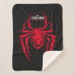 Spider-Man Miles Morales Glitched Spider Icon Sherpa Blanket