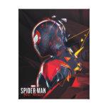 Spider-Man Miles Morales Hi-Tech Geometric Shatter Canvas Print