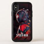 Spider-Man Miles Morales Hi-Tech Geometric Shatter OtterBox Symmetry iPhone XS Case