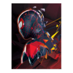 Spider-Man Miles Morales Hi-Tech Geometric Shatter Postcard