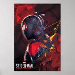 Spider-Man Miles Morales Hi-Tech Geometric Shatter Poster