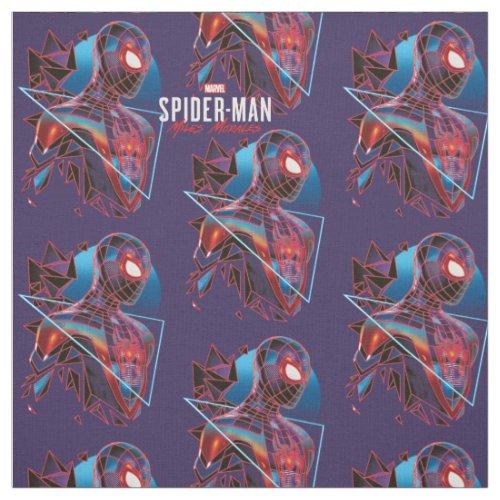 Spider-Man Miles Morales Retro Geometric Shatter Fabric