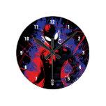 Spider-Man | Paint Splatter Character Art Round Clock
