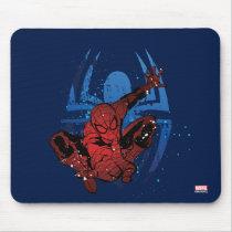 Spider-Man Paint Splatter & Logo Graphic Mouse Pad