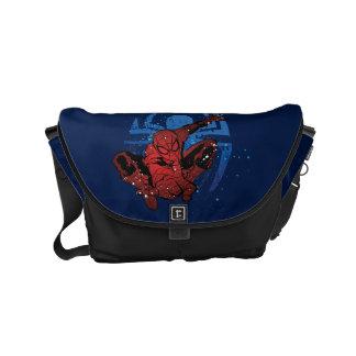 Spider-Man Paint Splatter & Logo Graphic Small Messenger Bag