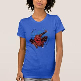 Spider-Man Paint Splatter & Logo Graphic Tee Shirt