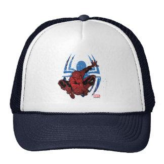 Spider-Man Paint Splatter & Logo Graphic Trucker Hat