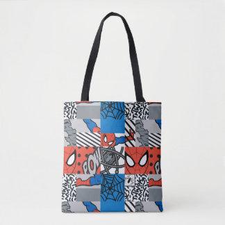 Spider-Man Pop Art Pattern Tote Bag