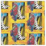 Spider-Man | Pop Art Web-Swinging Comic Panel Fabric