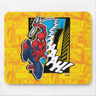 Spider-Man | Pop Art Web-Swinging Comic Panel Mouse Pad