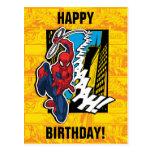 Spider-Man | Pop Art Web-Swinging Comic Panel Postcard