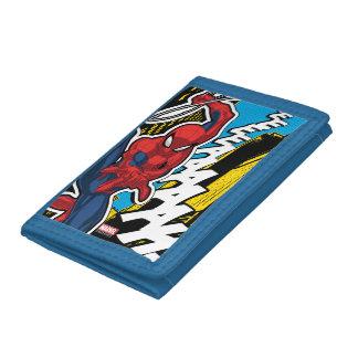 Spider-Man | Pop Art Web-Swinging Comic Panel Trifold Wallet