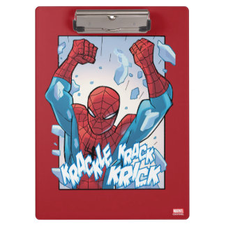 Spider-Man que rompe el vidrio