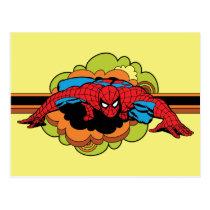 Spider-Man Retro Crawl Postcard