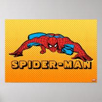 Spider-Man Retro Crouch Poster