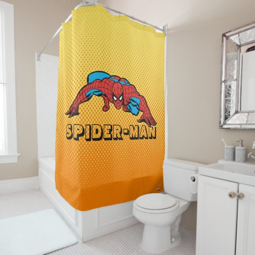 Spider-Man Retro Crouch Shower Curtain