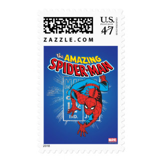 Spider-Man Retro Price Graphic Postage Stamp