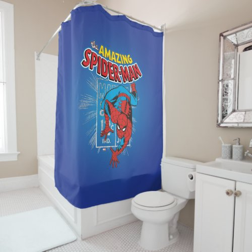 Spider-Man Retro Price Graphic Shower Curtain