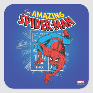 Spider-Man Retro Price Graphic Square Sticker