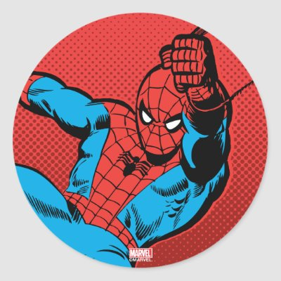 The amazing spider man graphic classic round sticker zazzle com