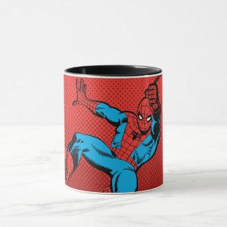 Spider-Man Retro Swinging Kick Mug