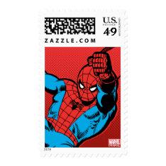 Spider-man Retro Swinging Kick Postage at Zazzle