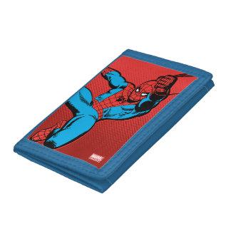 Spider-Man Retro Swinging Kick Tri-fold Wallet
