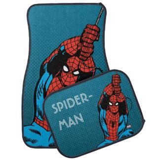 Spider-Man Retro Web Swing Car Mat