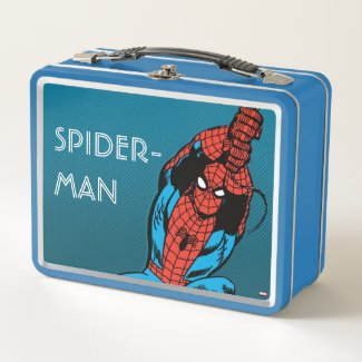 Spider-Man Retro Web Swing Metal Lunch Box