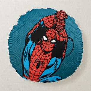 Spider-Man Retro Web Swing Round Pillow