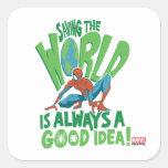 Spider-Man | Saving The World Square Sticker