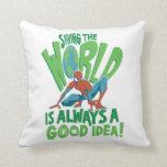 Spider-Man | Saving The World Throw Pillow
